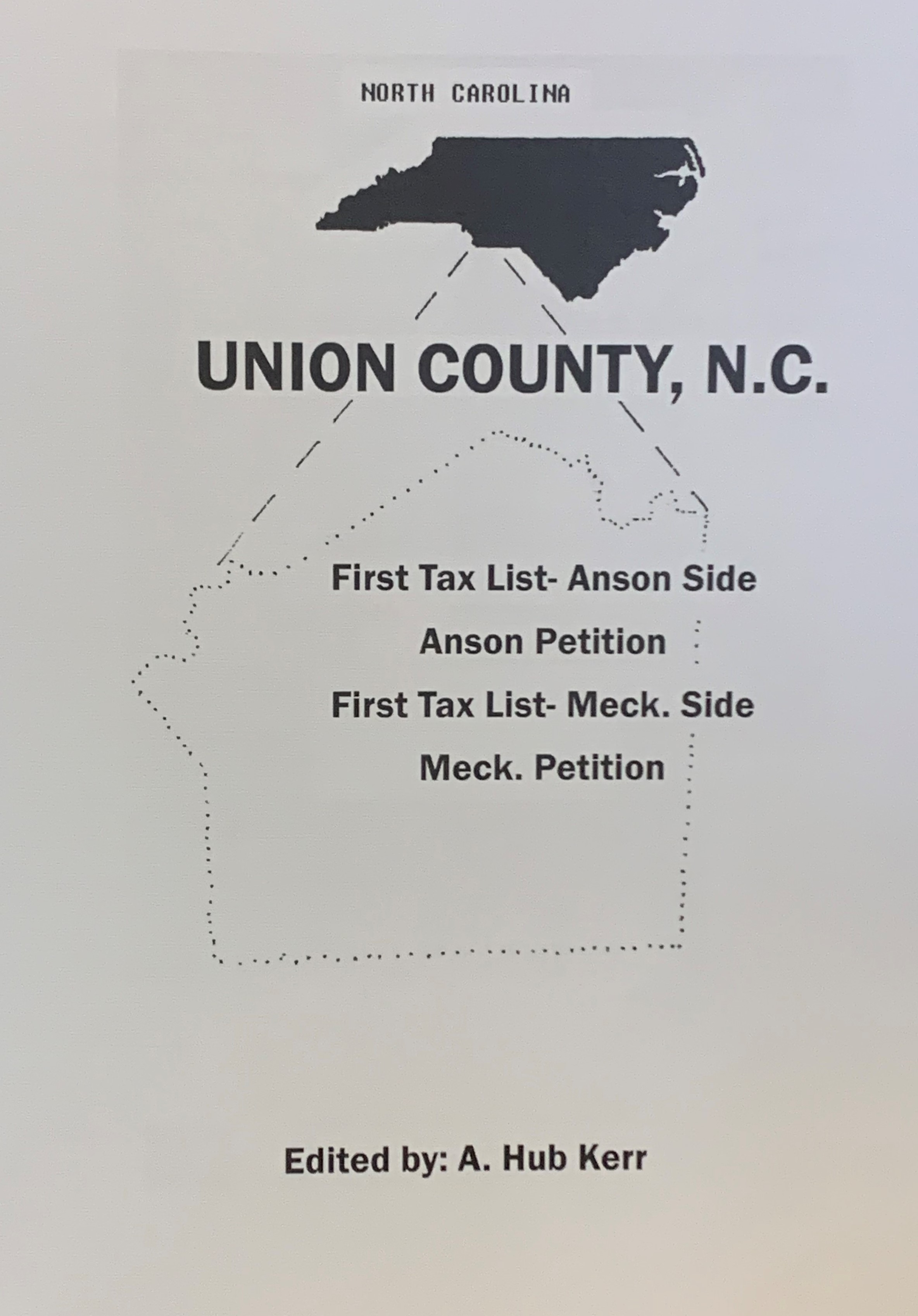 Union Co. NC First Tax List